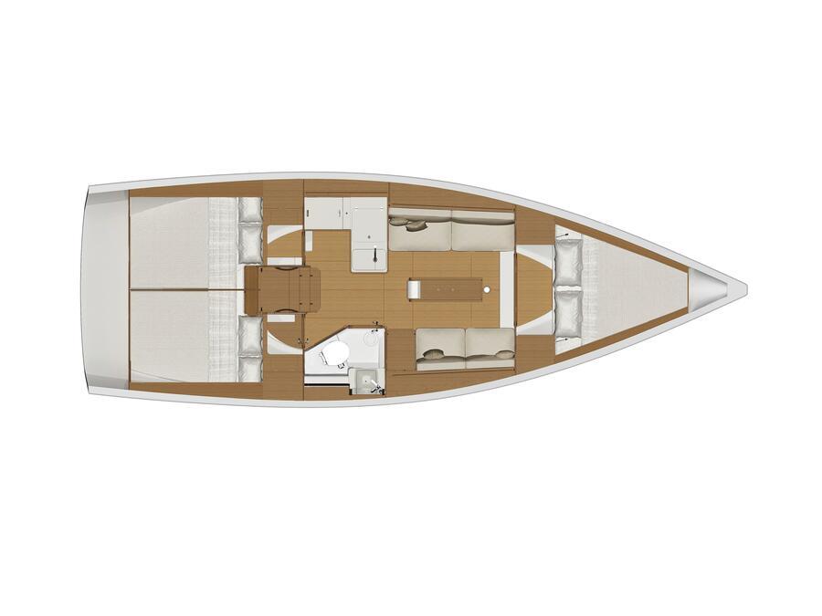 Dufour 360 GL '18 (Jade) Plan image - 1