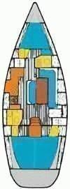Oceanis 390 (Chiruca Dos (Majorca)) Plan image - 7