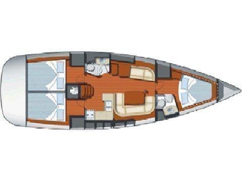 Sun Odyssey 42i (Nihal) Plan image - 14