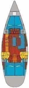 Oceanis 461 (Capetan Giorgos) Plan image - 5
