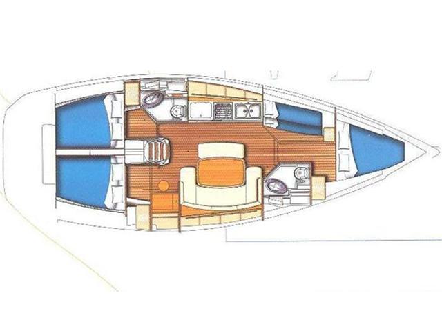 Cyclades 43.4 (2007) new full batten mainsail and (CIKLADA) Plan image - 19