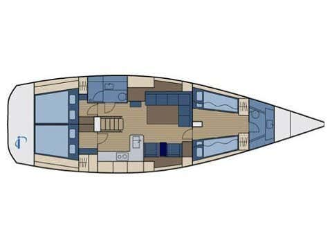 Hanse 470 (Supertramp) Plan image - 1