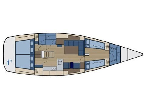 Hanse 470 (Shadow of the wind) Plan image - 2