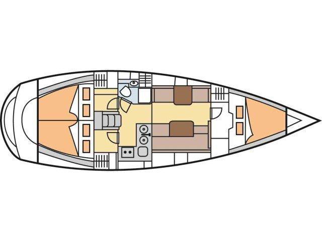 Hanse 370 (Vaco da Ganda) Plan image - 1