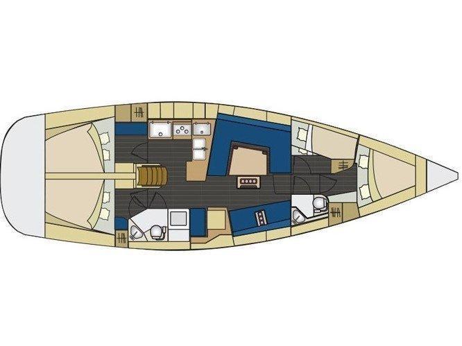 Elan 444 Impression (S/Y Atlantida) Plan image - 1