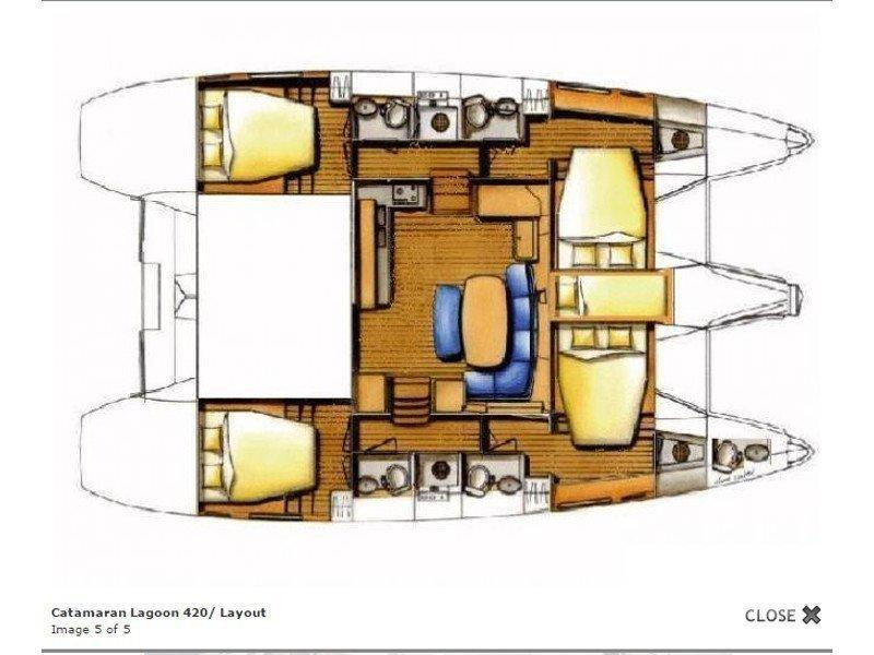 Lagoon 420 (Sofia VI) Plan image - 3