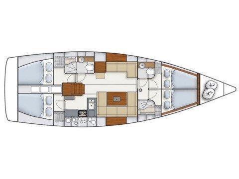 Hanse 445 (Alegria III) Plan image - 3