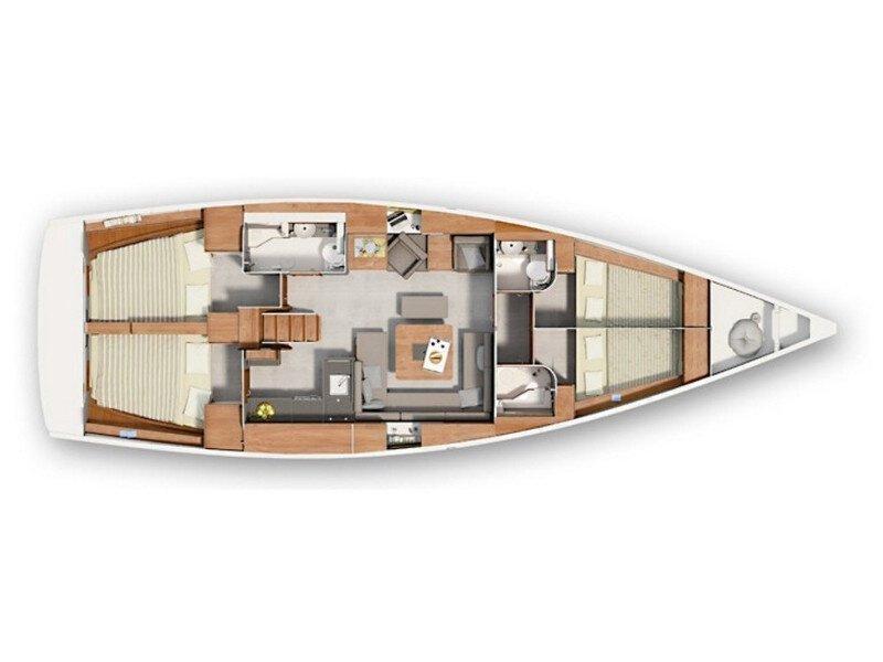 Hanse 455 (Seaway) Plan image - 9
