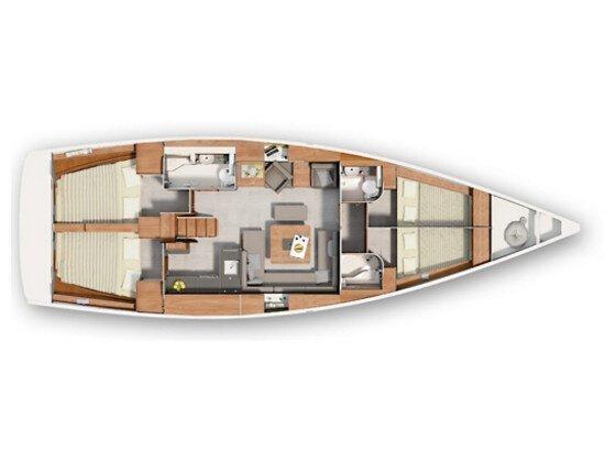 Hanse 455 (Lanas) Plan image - 1
