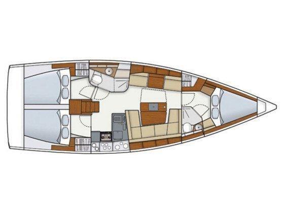 Hanse 415 (Ivy) Plan image - 3