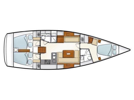 Hanse 430 (Lana I) Plan image - 4