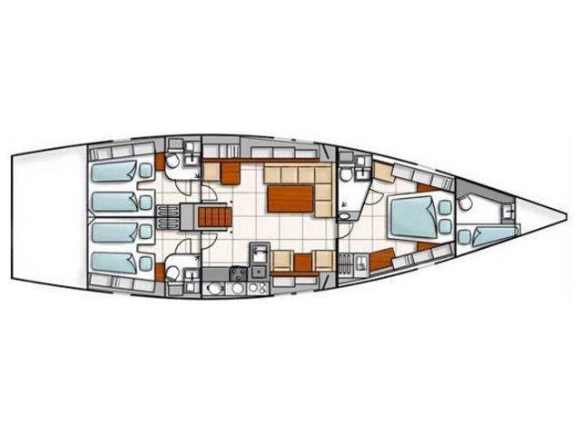 Hanse 540 (Loma) Plan image - 2