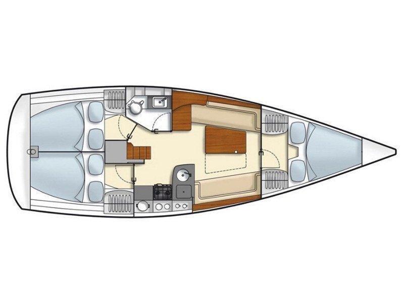 Hanse 355 (Mala) Plan image - 6