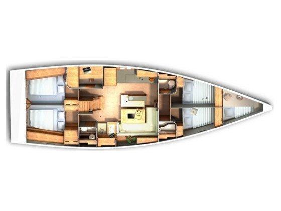 Hanse 505 (4+1 cab.) (Super Trouper) Plan image - 3