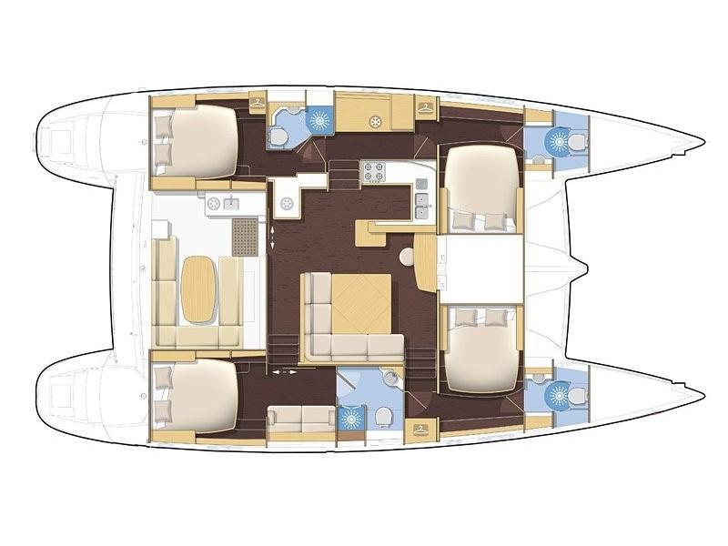Lagoon 500. (Mystique II (Owner Version)) Plan image - 4