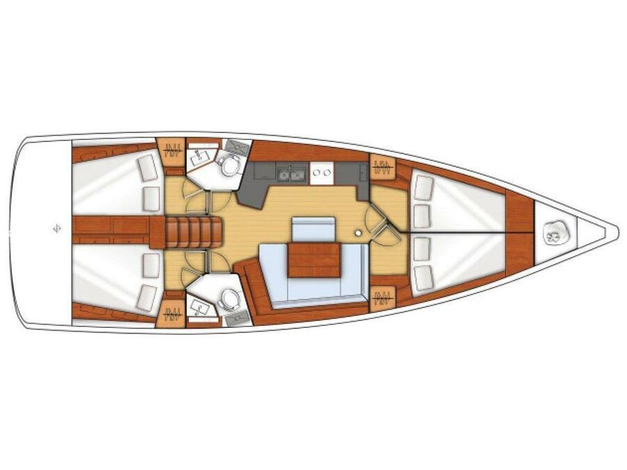 Oceanis 45 (Nausicaa) Plan image - 2
