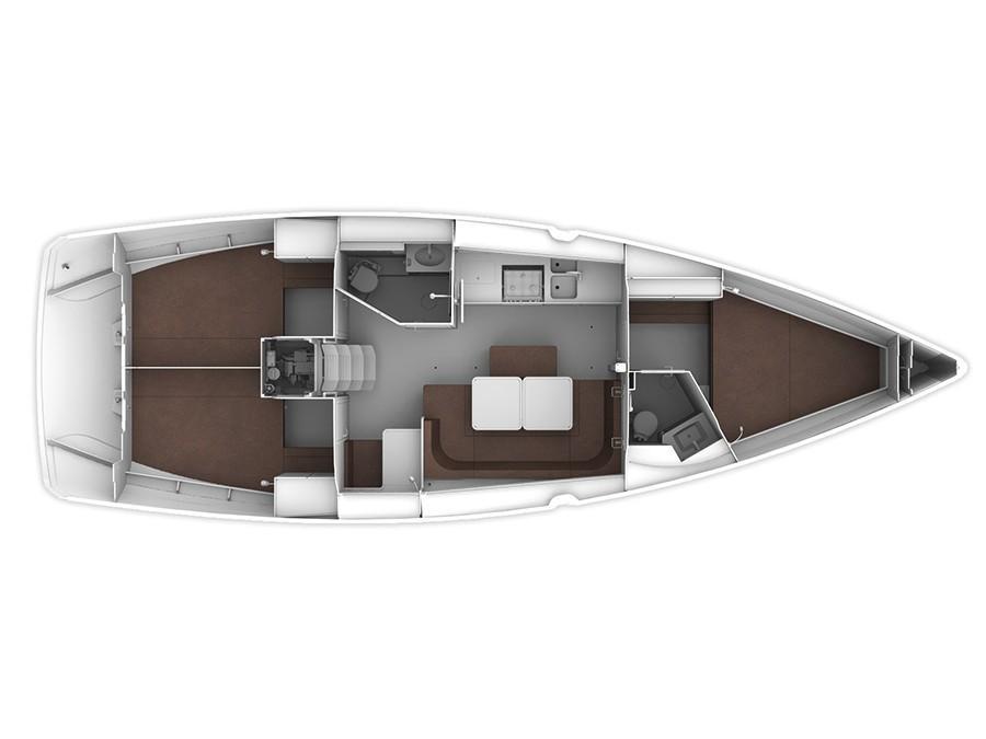 Bavaria Cruiser 41 (MH 70) Plan image - 4