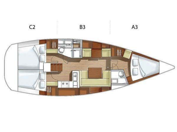 Hanse 400 (Flyer of Lorne) Plan image - 3