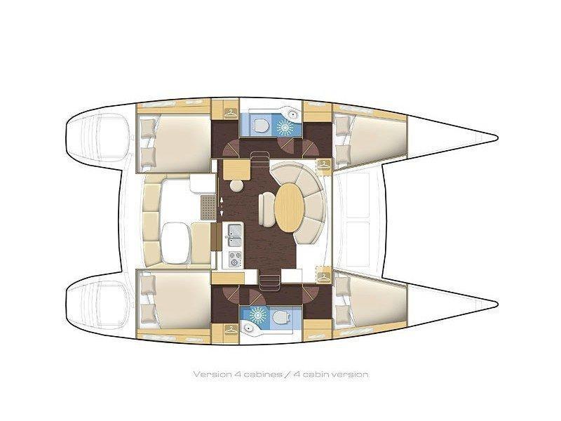 Lagoon 380 (Golf Charlie) Plan image - 17