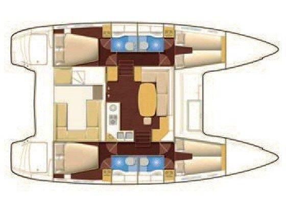 Lagoon 400 S2. (Vicky) Plan image - 15