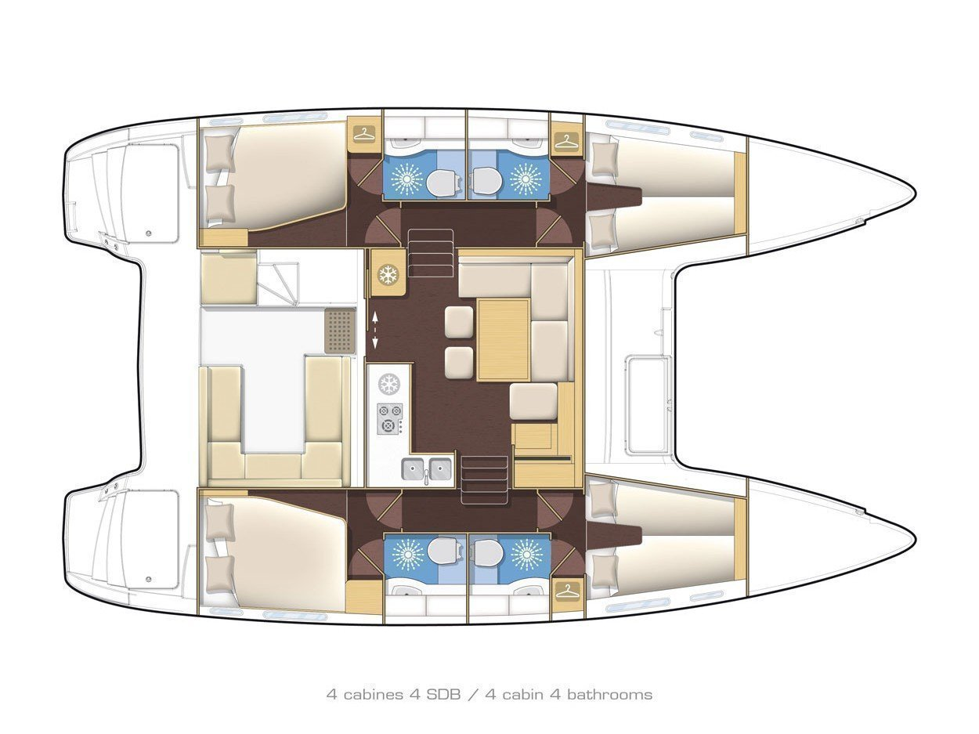 Lagoon 400 S2. (Turquoise) Plan image - 12