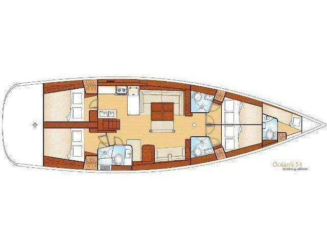 Oceanis 54 (Maistra) Plan image - 15