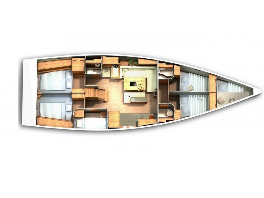 Hanse 505 (Iktinos) Plan image - 4