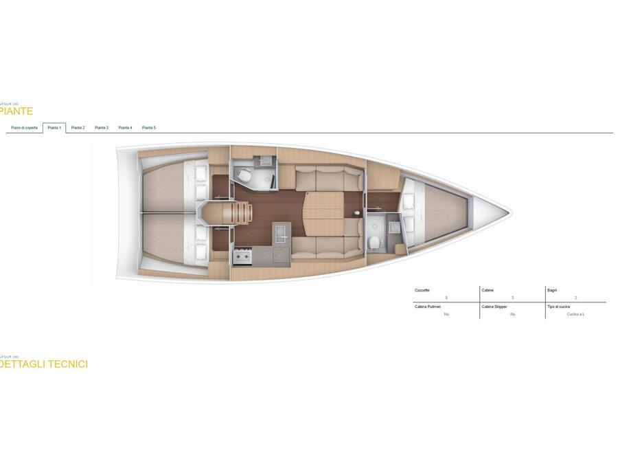 Dufour 390 Grand Large (Giustina) Plan image - 3