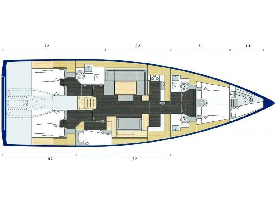 Bavaria C57 (Bavc57FOU) Plan image - 2