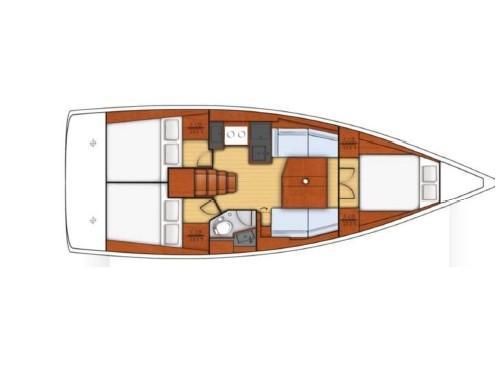 Oceanis 38 (Arianna) Plan image - 1