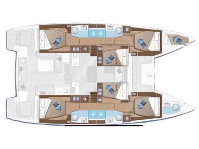 Lagoon 50 (Sailuxe - Finocchietto) Plan image - 3