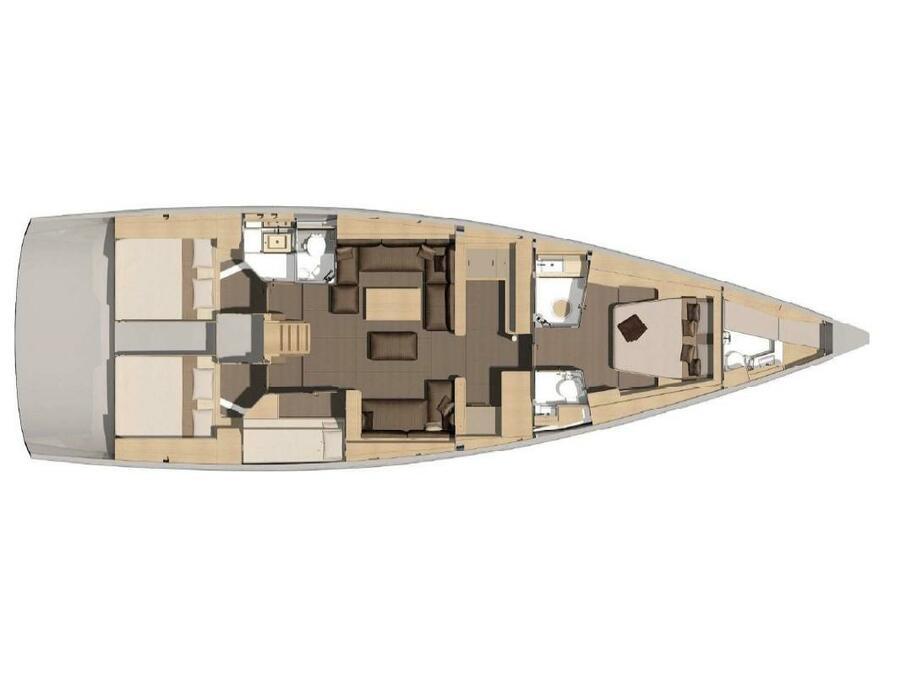 Dufour 56 Exclusive (Grace) Plan image - 1