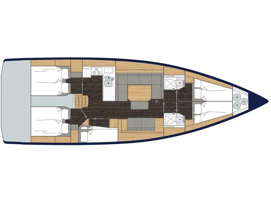 Bavaria C45A (BAVARIAC45 METZ) Plan image - 1