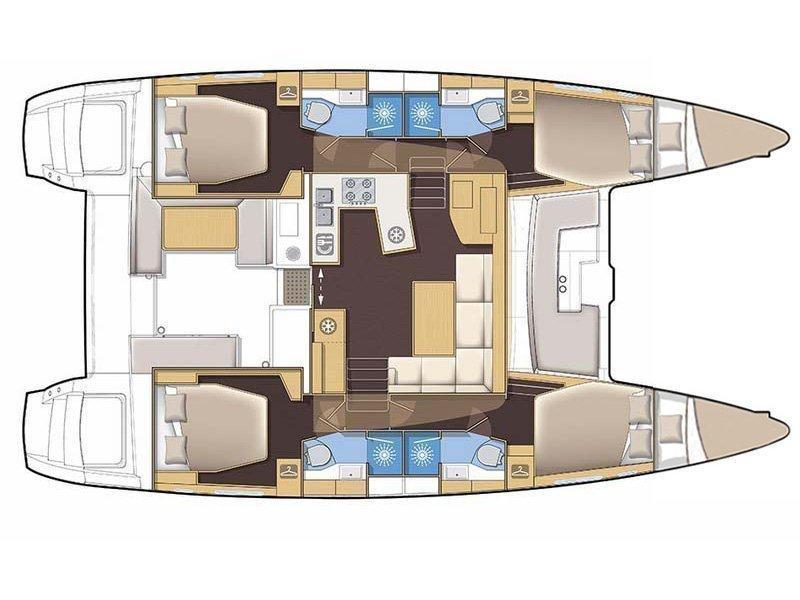 Lagoon 450 (Juraj) Plan image - 4