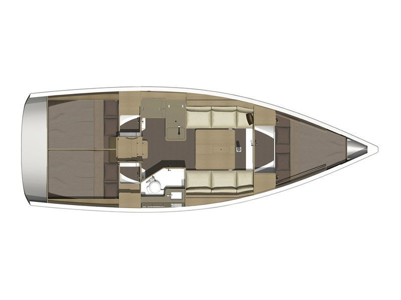Dufour 350 GL (Luka (webasto, solar panel, additional water tank, shallow draft)) Plan image - 8