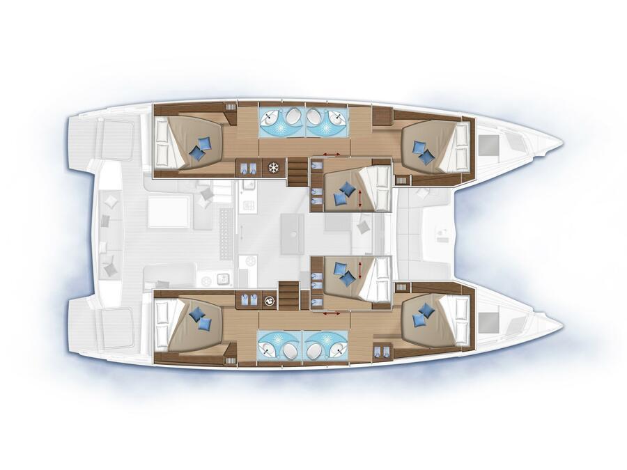 Lagoon 50 (MILA FLY ( AC in Salon and cabin +generator)) Plan image - 6