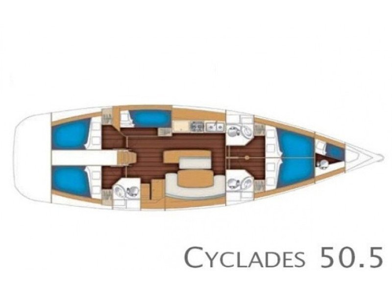 Cyclades 50.5 (Sofia IV) Plan image - 3