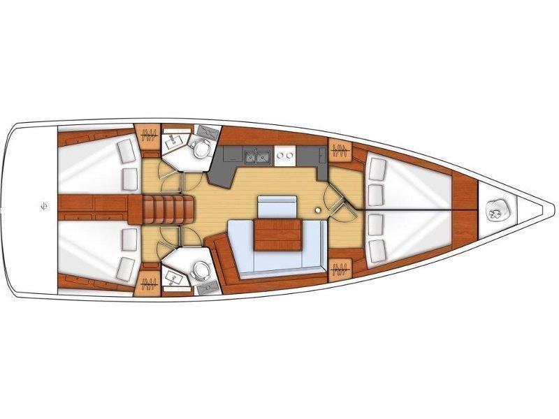Oceanis 45 (Stefani I) Plan image - 6