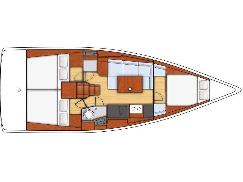 Oceanis 38 (Marica) Plan image - 1
