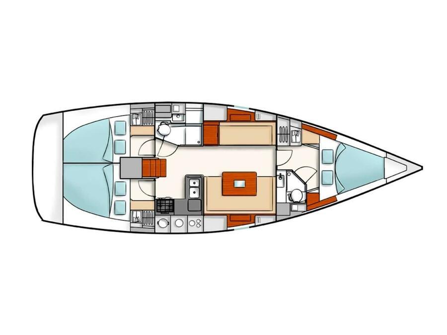 Hanse 400e (Achinos) Plan image - 11