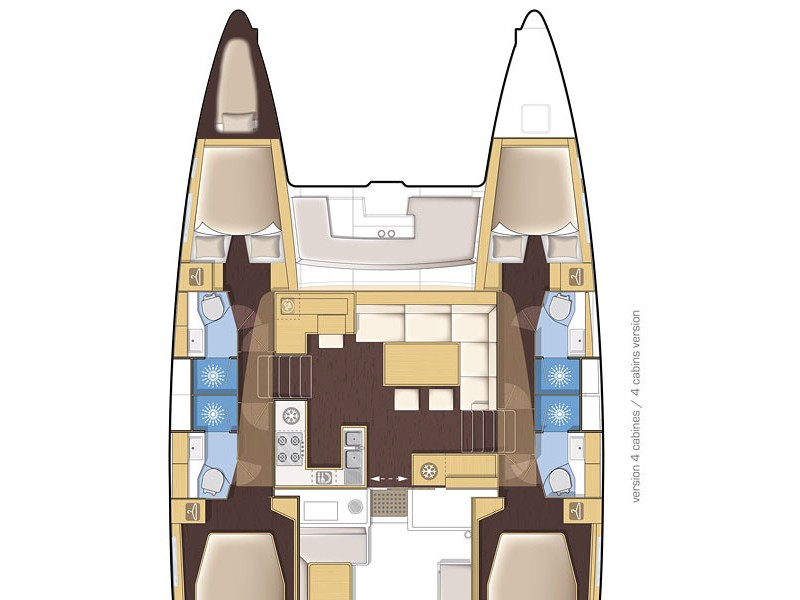 Lagoon 450 (2014) equipped with generator, A/C (sa (MUSTRA I) Plan image - 9