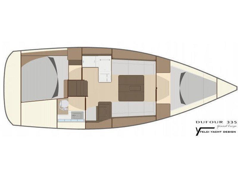 Dufour 335 GL (Babe) Plan image - 5