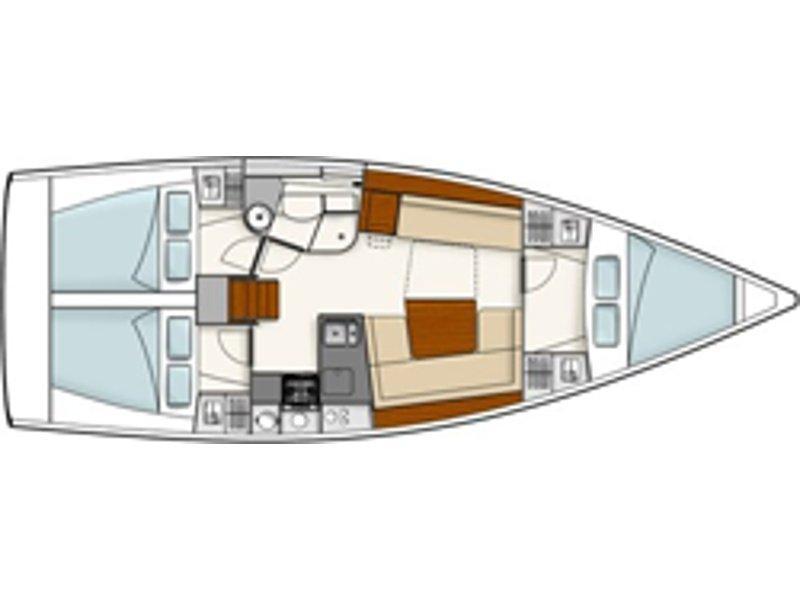 Hanse 385 (Pagode) Plan image - 4