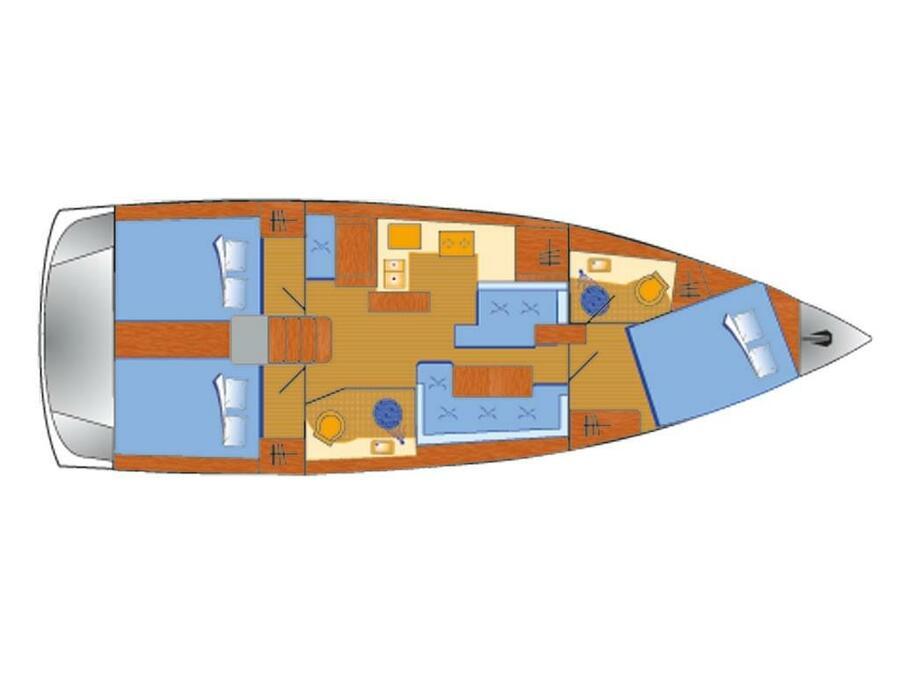 Sun Odyssey 410 (Lara) Plan image - 2