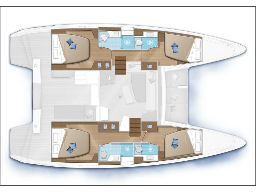 Lagoon 42 (Gen+A/C+WM) (Nacatuli) Plan image - 9
