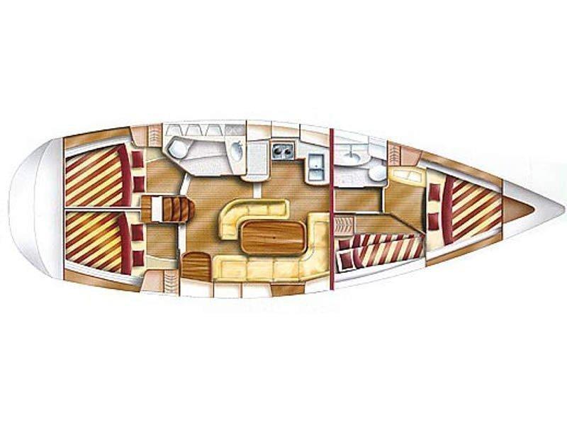 Dufour Gib Sea 43 (Filou IV) Plan image - 3