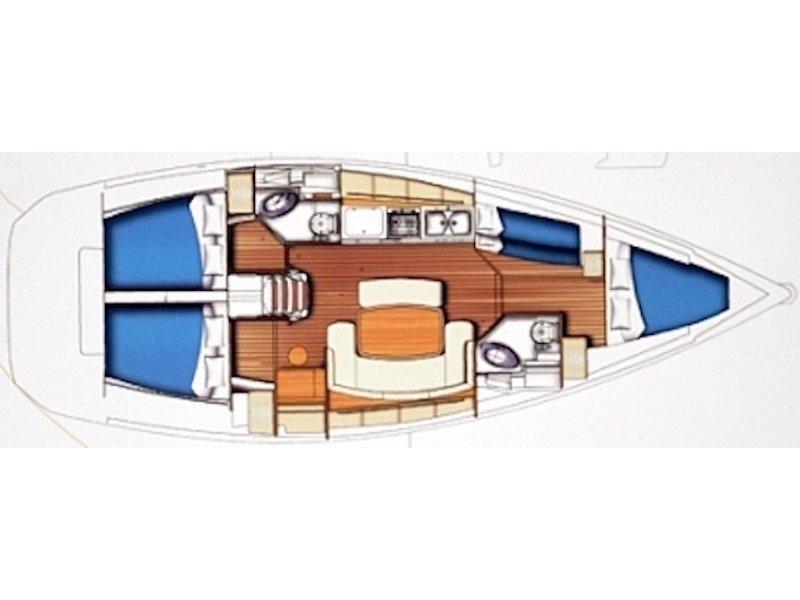 Beneteau Cyclades 43.4 (Gorda) Plan image - 4
