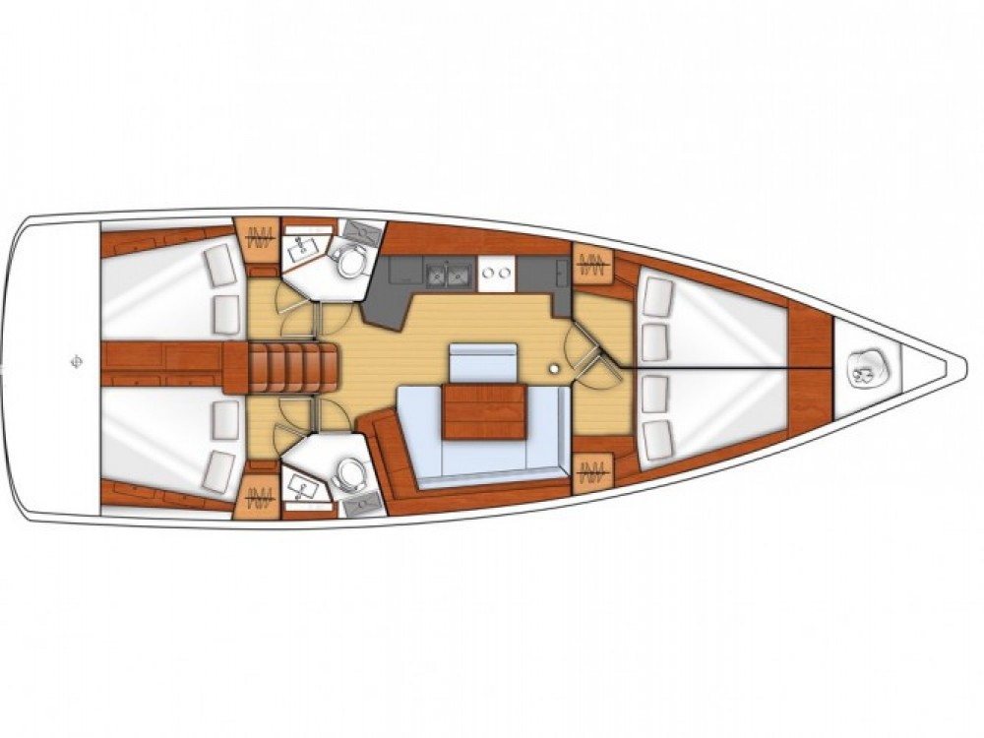 Oceanis 45 (Mizzica) Plan image - 10
