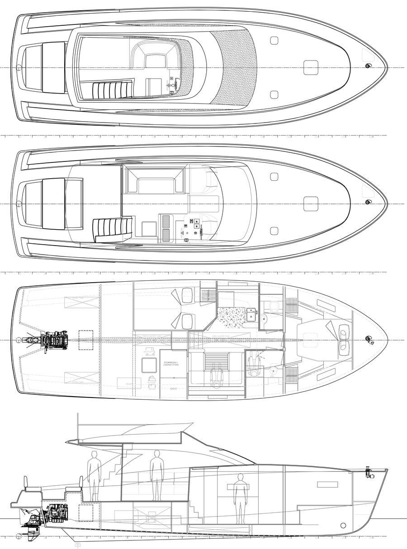 Cyrus 13.8 Flybridge (Punta I) Plan image - 1