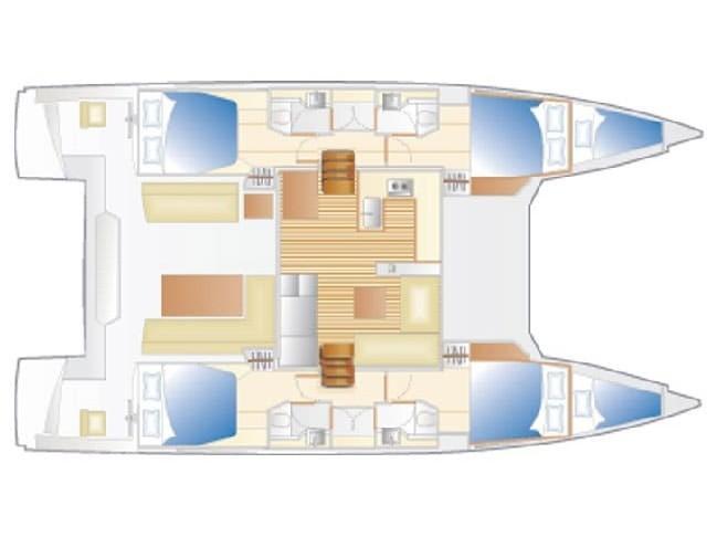 Nautitech 46 Fly (Elettra) Plan image - 2